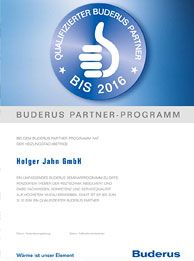 Zertifikat: Qualifizierter Buderus Partner